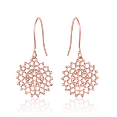 Element 18ct Rose Gold Drop Earrings 13.5mm thumbnail