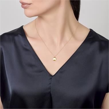 Cadence 18ct Yellow Gold Satin Finish Necklace - Small thumbnail