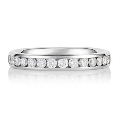 Platinum Diamond Half Eternity Ring 0.45ct thumbnail
