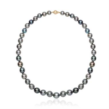 18ct Yellow Gold Tahitian Pearl Necklace 8.5-12.0mm | 42cm thumbnail