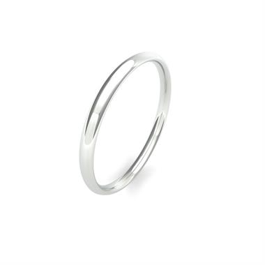 Palladium Heavy Traditional Court Wedding Ring thumbnail