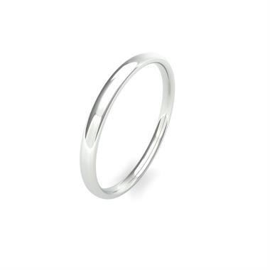 Platinum Heavy Modern Court Wedding Ring thumbnail