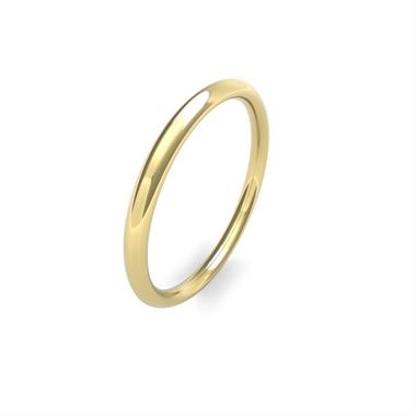 18ct Yellow Gold Heavy Traditional Court Wedding Ring thumbnail