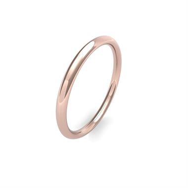 18ct Rose Gold Heavy Traditional Court Wedding Ring thumbnail