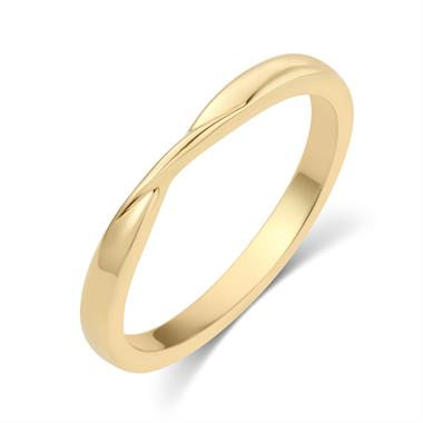 18ct Yellow Gold Twist Design Wedding Ring thumbnail