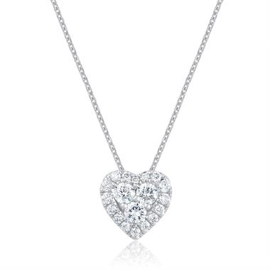 Adore 18ct White Gold Diamond Heart Pendant thumbnail