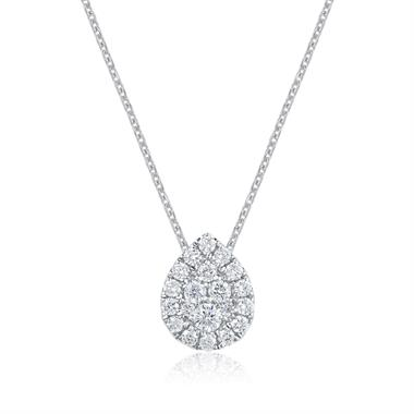 Adore 18ct White Gold Pear Design Diamond Pendant  thumbnail