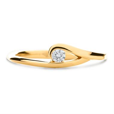 Mon Coeur 18ct Yellow Gold Diamond Dress Ring 0.08ct thumbnail
