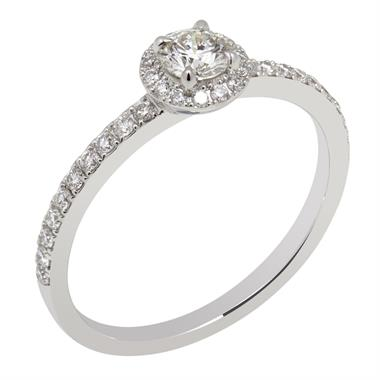 Platinum 0.50ct Diamond Halo Ring thumbnail