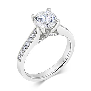 Platinum 1.48ct Diamond Large Solitaire Ring thumbnail