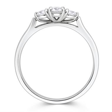 Platinum Three Stone Round 0.33ct Diamond Ring thumbnail