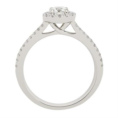 Platinum Diamond Channel Set Halo Ring thumbnail