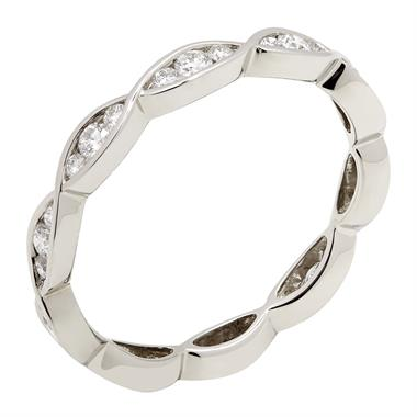 Platinum Plaited Design Diamond Ring thumbnail
