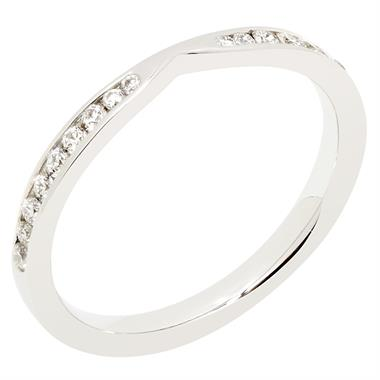Platinum Wishbone 0.25ct Diamond Shaped Ring thumbnail