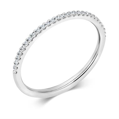 Platinum Diamond Half Eternity Ring 0.13ct thumbnail