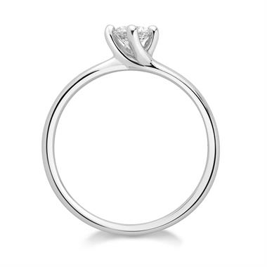 Platinum Twisted Claw Design Solitaire Engagement Ring 0.25ct thumbnail
