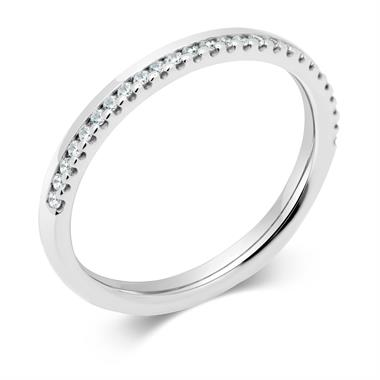 Platinum Diamond Set Wedding Ring 0.13ct thumbnail