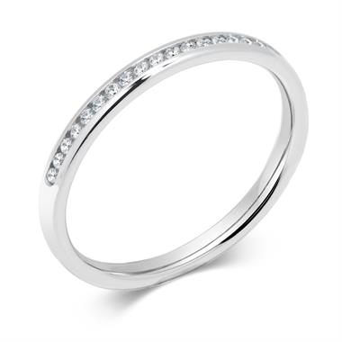 Platinum Modern 0.12ct Half Channel Diamond Ring thumbnail
