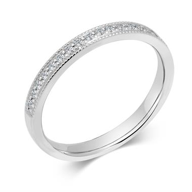 Platinum 0.22ct Diamond Half Channel Ring thumbnail