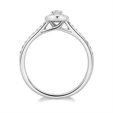 Platinum Diamond Halo Engagement Ring 0.34ct thumbnail