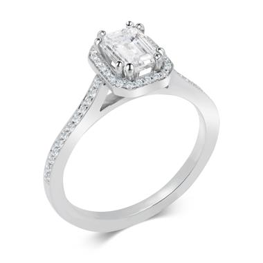 Platinum Octagon Shape 1.22ct Diamond Ring thumbnail