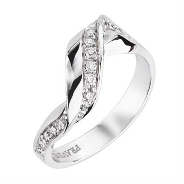 Flamenco 18ct White Gold Diamond Dress Ring 0.41ct thumbnail