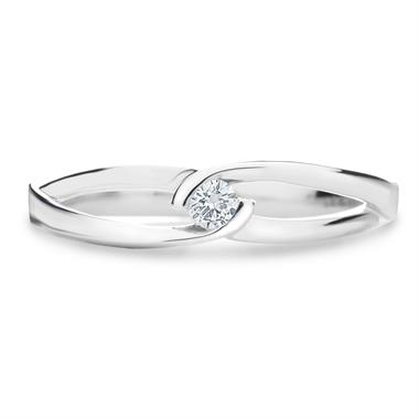 Mon Coeur 18ct White Gold Diamond Dress Ring 0.08ct thumbnail