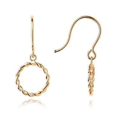 Aura 18ct Yellow Gold Drop Earrings thumbnail