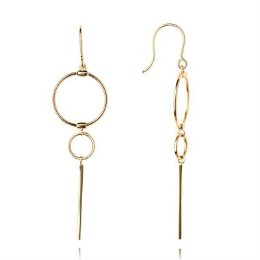 Issa 18ct Yellow Gold Drop Earrings thumbnail