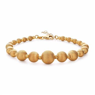 Milano 18ct Yellow Gold Satin Finish Bracelet thumbnail