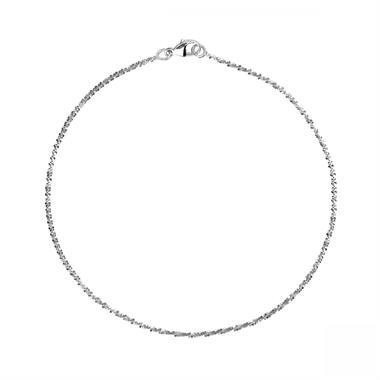18ct White Gold Criss-Cross Bracelet thumbnail