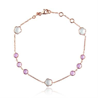 Bloom 18ct Rose Gold Amethyst Bracelet thumbnail
