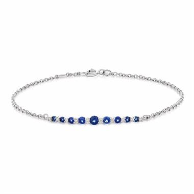 18ct White Gold Sapphire and Diamond Bracelet thumbnail
