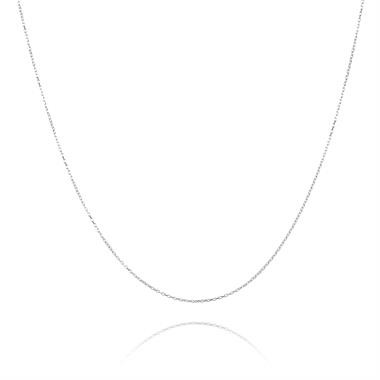 18ct White Gold Trace Chain 40cm thumbnail