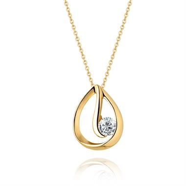Mon Coeur 18ct Yellow Gold Diamond Pendant thumbnail
