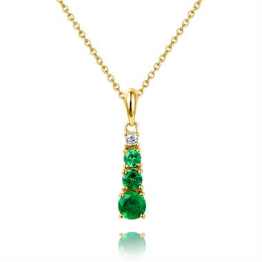 Bonbon 18ct Yellow Gold Tsavorite and Diamond Pendant thumbnail
