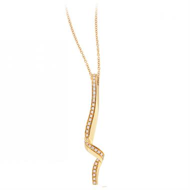 Flamenco 18ct Yellow Gold Diamond Drop Pendant thumbnail