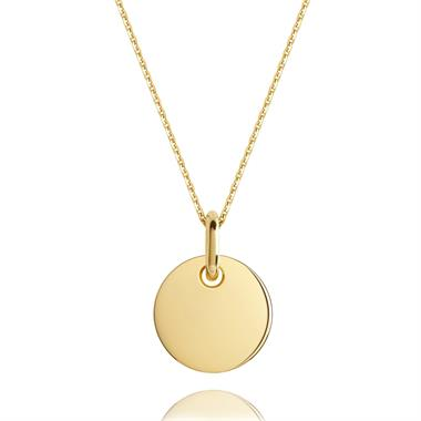 18ct Yellow Gold Small Round Design Pendant thumbnail
