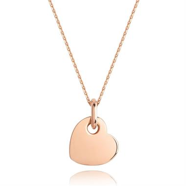 Treasured 18ct Rose Gold Heart Pendant thumbnail