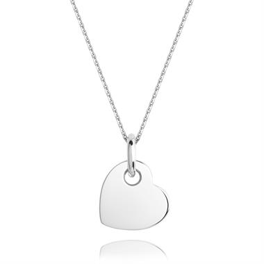 Treasured 18ct White Gold Heart Pendant thumbnail