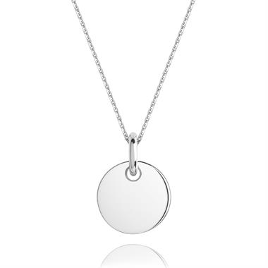 Treasured 18ct White Gold Small Round Pendant thumbnail