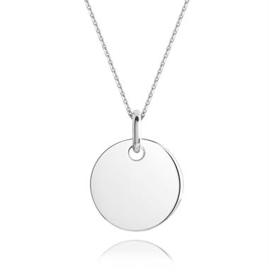 Treasured 18ct White Gold Medium Round Pendant thumbnail