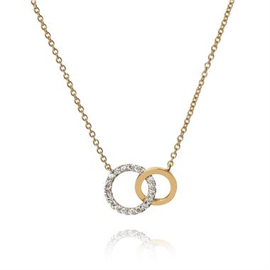 Union 18ct Yellow Gold Diamond Circle Necklace thumbnail