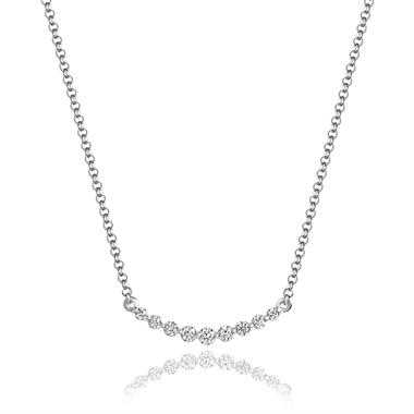18ct White Gold Diamond Necklace 0.13ct thumbnail