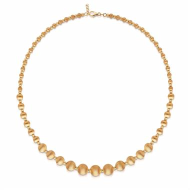 Milano 18ct Yellow Gold Satin Finish Necklace thumbnail