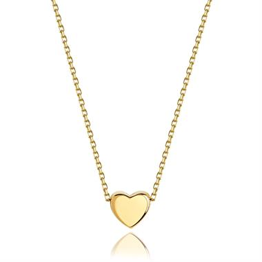 Unico 18ct Yellow Gold Heart Necklace thumbnail