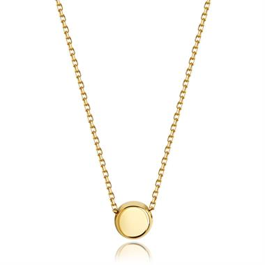 Unico 18ct Yellow Gold Circle Necklace thumbnail