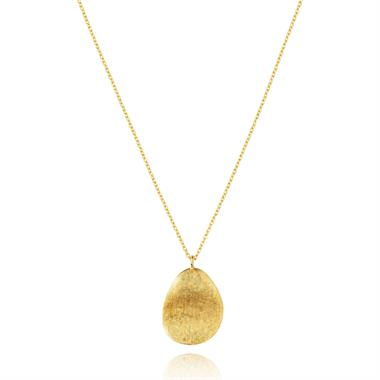 Cadence 18ct Yellow Gold Satin Finish Necklace - Large thumbnail