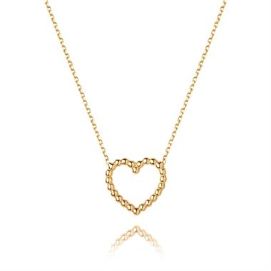 Aura 18ct Yellow Gold Heart Design Necklace thumbnail