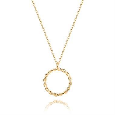 Aura 18ct Yellow Gold Circle Necklace thumbnail